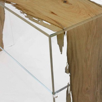 Console table in briccola wood and glass Fenice in Venice