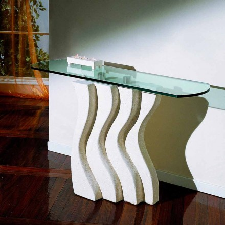Natural stone and crystal console table Ciril, modern design