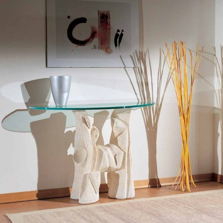 Natural stone console table with crystal top Dios, modern design