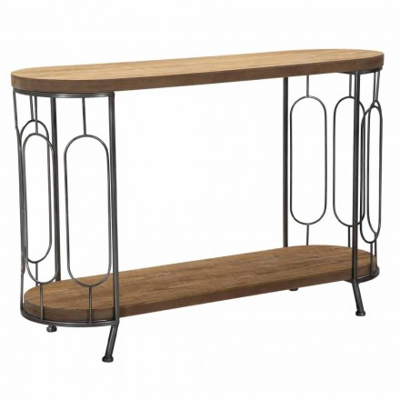 Modern Style Console Table in Iron and MDF - Trisha