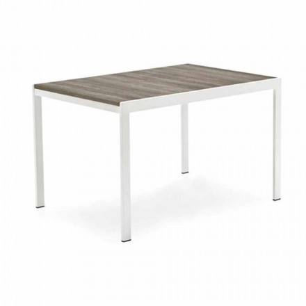 Extendable Dining Table Ennobled Wood and Metal Made in Italy - Aladdin
