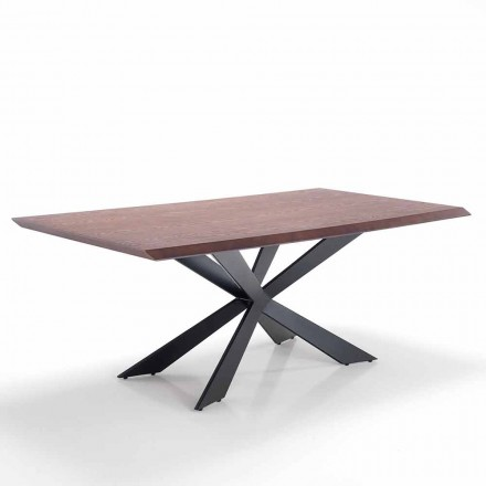 Modern design dining table in Mdf and metal – Hoara