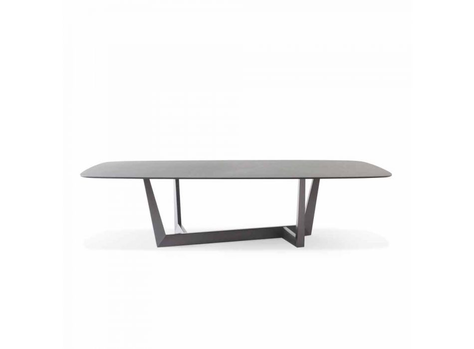 Ceramic and Metal Lead Kitchen Table Made in Italy - Art