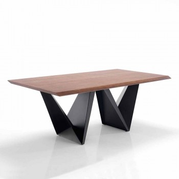 Modern Design Kitchen Table in MDF and Metal, Helene
