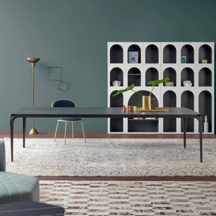 Modern Kitchen Table in Ceramic Made in Italy - Delta