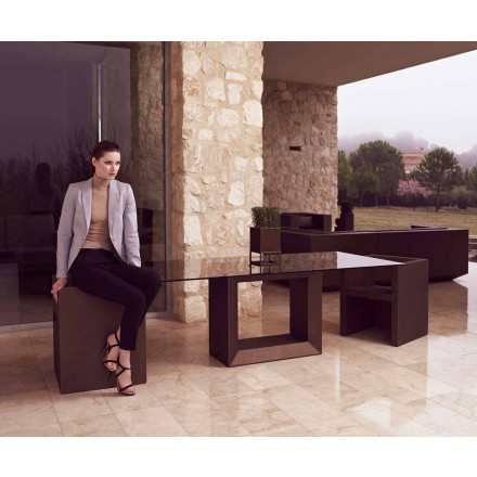 Outdoor table Vela 200x100 cm by Vondom, in polyethylene resin