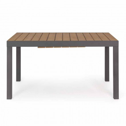Extendable Outdoor Table Up to 200 cm with Top in Teak - Bobel Finish