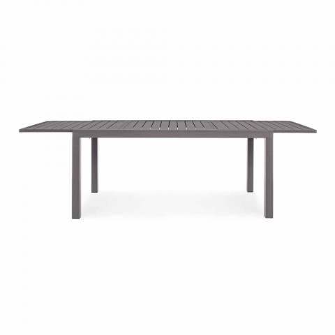 Extendable Outdoor Table Up to 240 cm in Aluminum, Homemotion - Arold