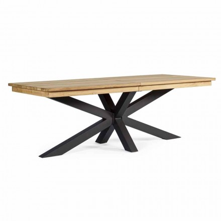Extendable Outdoor Table Up to 300 cm in Teak, Homemotion - Selenia