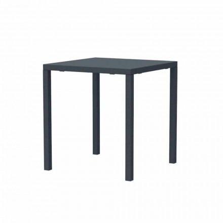 Modern Stackable Square Metal Outdoor Table Made in Italy - Aila