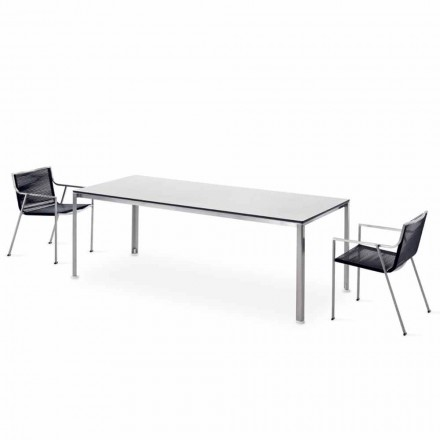 Made in Italy Design Laminated Steel Outdoor Table - Mariuli