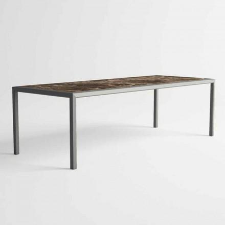Outdoor Table in Aluminum of Modern Design for Garden - Mississippi2