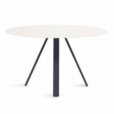 Round Metal and HPL Outdoor Table Made in Italy - Conrad