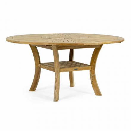 Teak Outdoor Table with Swivel Central Top, Homemotion - Dimitris