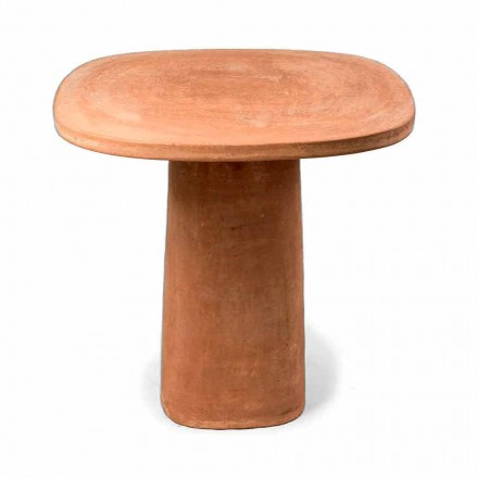 Square Terracotta Outdoor Table 70x70 cm Made in Italy - Yulia