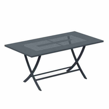 Folding Outdoor Table in Modern Painted Metal Made in Italy - Doria