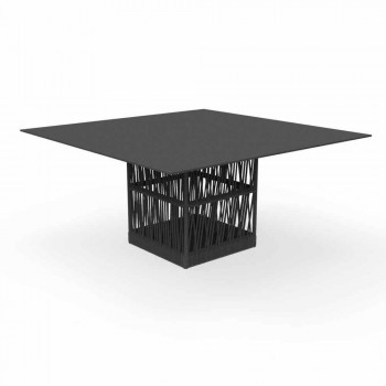 Cliff Talenti aluminum square outdoor table 150cm by Palomba