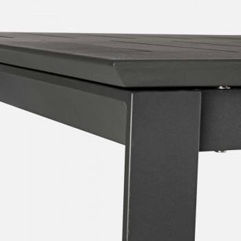 Extendable Garden Table Up to 240 cm in Aluminum Homemotion - Pemberton