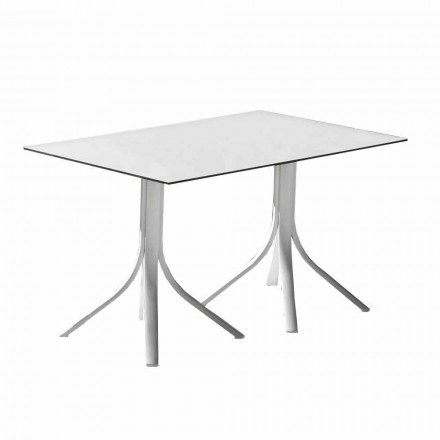 Luxury Garden Table in Aluminum and White Hpl or Gunmetal - Filomena