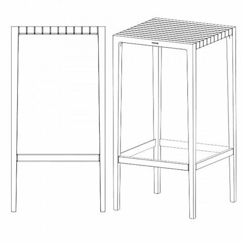 Spritz garden table by Vondom in polypropylene and fiberglass