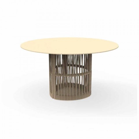Cliff Talenti round aluminum garden table, design by Palomba
