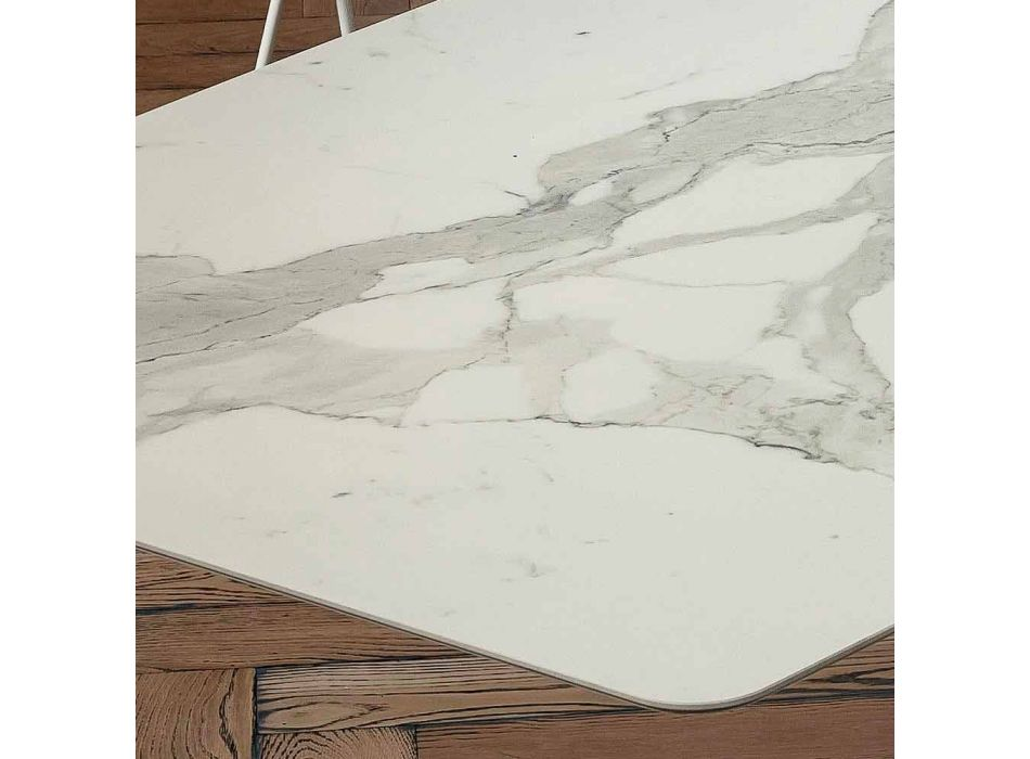Barrel Dining Table in Laminam and Synthetic Marble Made in Italy - Brontolo