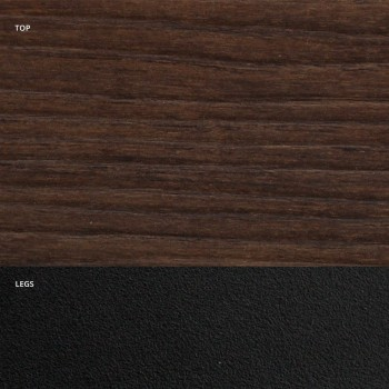 Barrel Dining Table in Wood Effect Laminate Made in Italy - Grotta