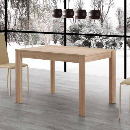 Fiumicino extendable dining table 130x80 open 190 cm, design