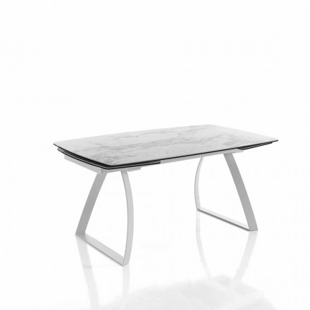 Design extendable dining table in glass ceramic – Willer