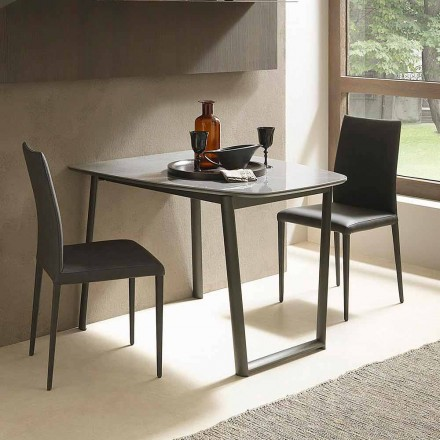 Extendable Dining Table Up to 170 cm in Ceramic Made in Italy - Tremiti