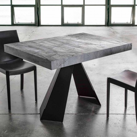 Extendable Dining Table Up to 220 cm with Melamine Top - Amiro