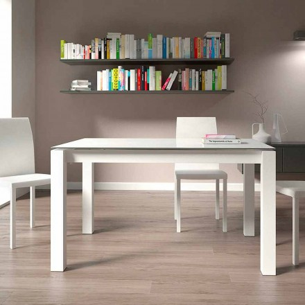Extendable Dining Table Up to 220 cm Modern Design Made in Italy - Minno