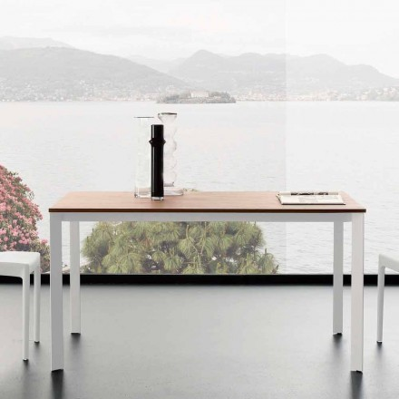 Extendable Dining Table Up to 230 cm in Melamine Made in Italy - Platinum
