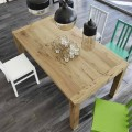 Dining table made of veneered oak wood extendable up to 240 cm - Ciro