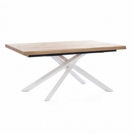 Extendable Dining Table Up to 240 cm in Wood Made in Italy - Xino