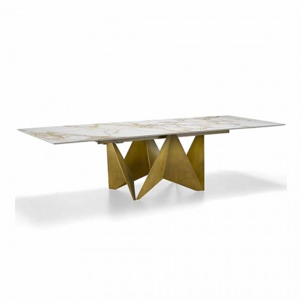 Luxury Extendable Table Up to 294 cm in Made in Italy Marble Stoneware - Macro