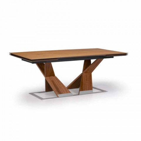 Extendable Dining Table Up to 294 cm in Wood Made in Italy - Monique
