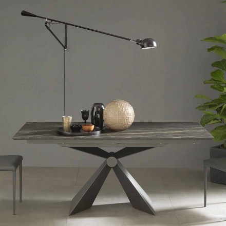 Extendable Dining Table Up to 298 cm in Ceramic Made in Italy - Anaconda