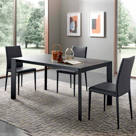 Extendable Dining Table Up to 310 cm in Ceramic Made in Italy - Pitagora