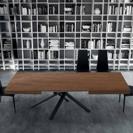 Extendable Dining Table up to 310 cm in Wood and Steel - Argentario