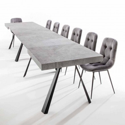 Extendable Dining Table Up to 500 cm with Melamine Top - Raimondo