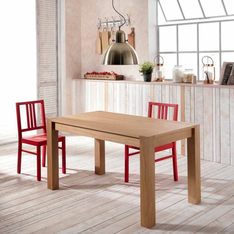 Extendable dining table in the Phaedrus oak, made in Italy