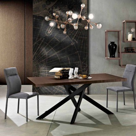 Extendable dining table in melamine wood made in Italy, Dionigi