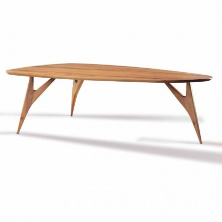 Dining Table, Handcrafted, in Solid Walnut Wood Made in Italy - Nocino