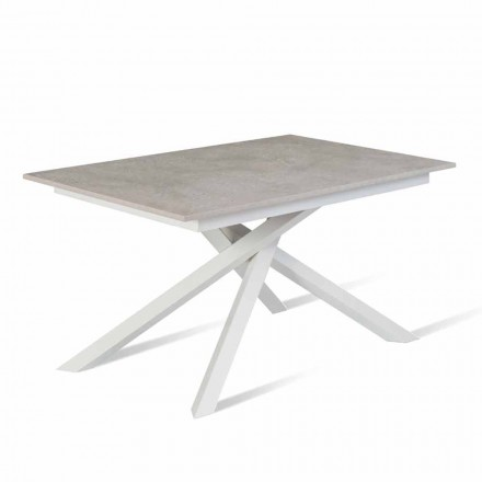 Dining Table with Extendable Top Up to 190 cm Made in Italy - Elias