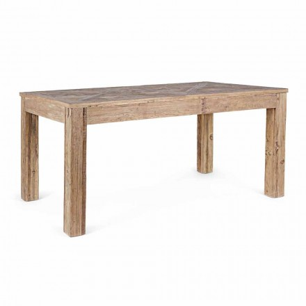 Homemotion Dining Table with Top and Legs in Elm Wood - Elm