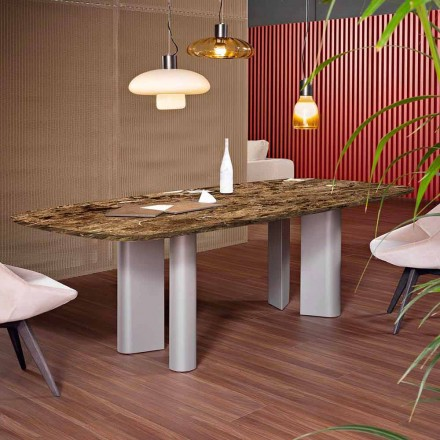 Dining Table with Marble Top Made in Italy - Bonaldo Geometric Table