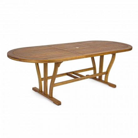 Extendable Outdoor Dining Table Up to 240 cm in Wood - Kaley