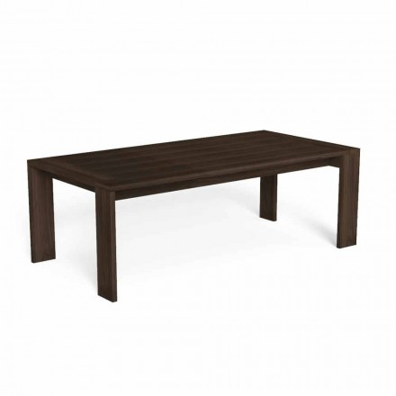 Rectangular Precious Wood Garden Dining Table - Argo by Talenti