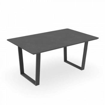 Aluminum and Gres Modern Garden Dining Table - Alabama Alu Talenti